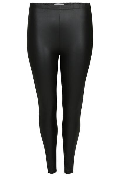 Legging met lederlook - Zwart
