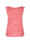 Top in koel tricot met stippenprint, Rood