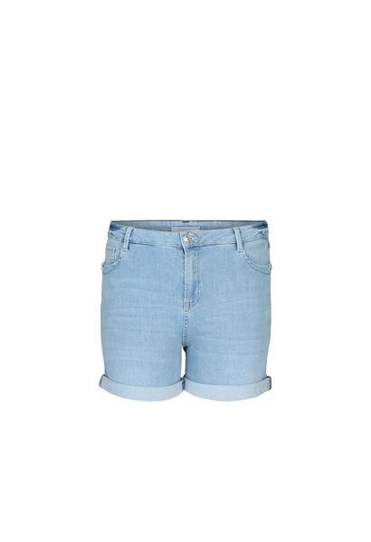 Jeansshort met ringetjes - Licht denim