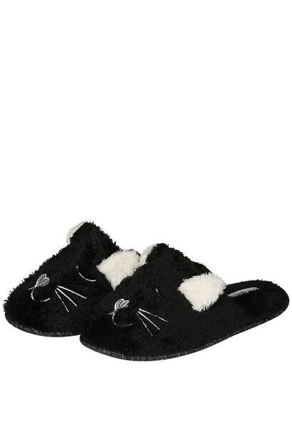 Pantoffels hond/kat - Zwart