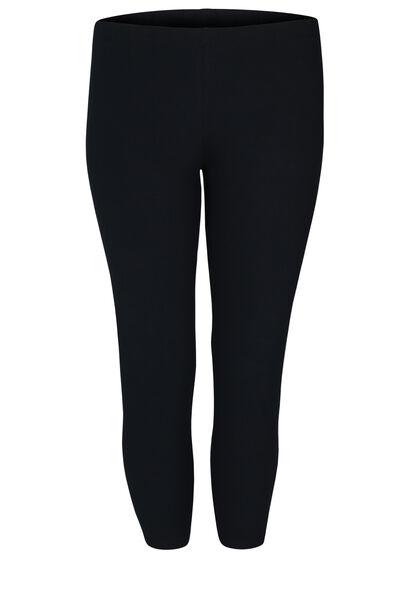 Kuitlange legging in biokatoen - Marineblauw