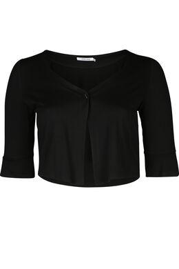 Bolero in effen tricot, Zwart