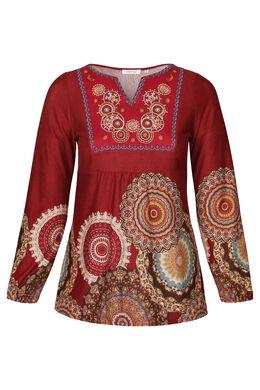 T-shirt-tuniek met rozetten, Brons