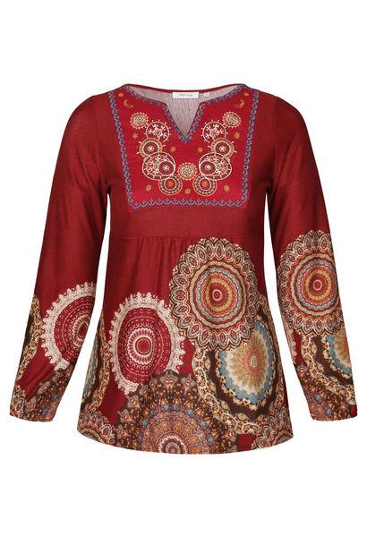T-shirt-tuniek met rozetten - Brons