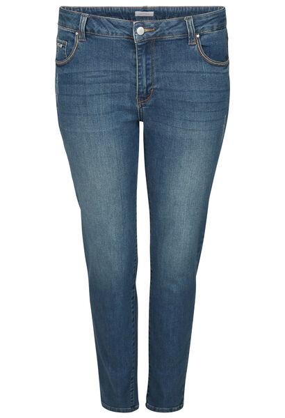 Kuitlange jeans met borduurwerk - Denim