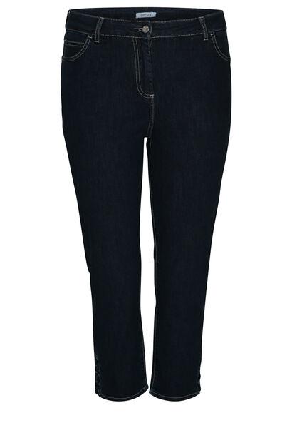 3/4-jeans met ringetjes - Denim