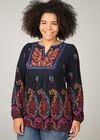 Etnische T-shirt-tuniek, Multicolor