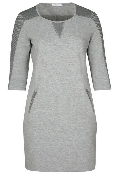 Hoesjurk in warm tricot - Grijs