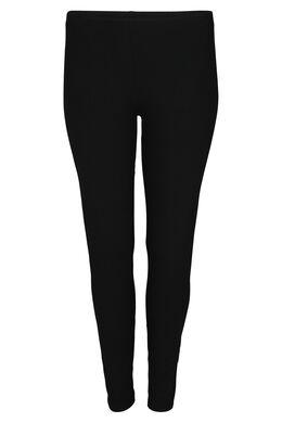 Lange legging in biokatoen, Zwart