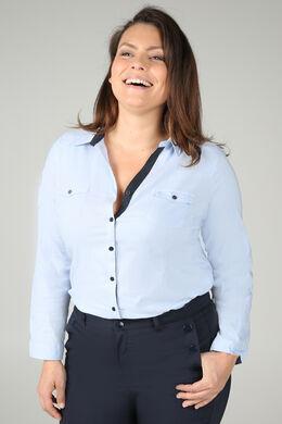 Effen blouse, Lichtblauw