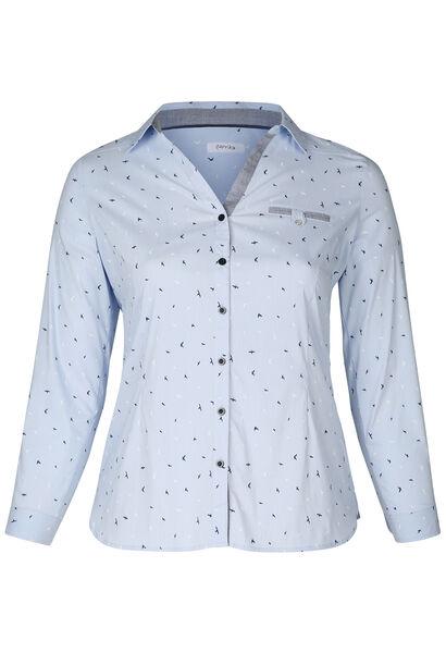 Gestreepte blouse - Lichtblauw