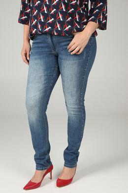 Slim jeans met studs, Denim