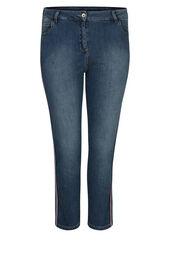7/8 jeans met Sportswearstroken