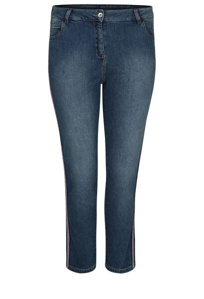 Kuitlange jeans met lurexboorden - Denim