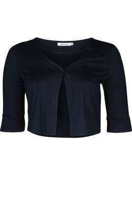Bolero in effen tricot, Marineblauw