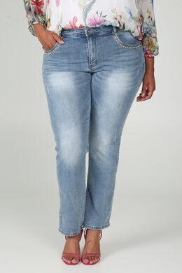 Rechte jeans, Denim