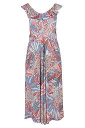 Lange jurk met etnische print