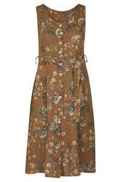 Linnen jurk met bloemenprint