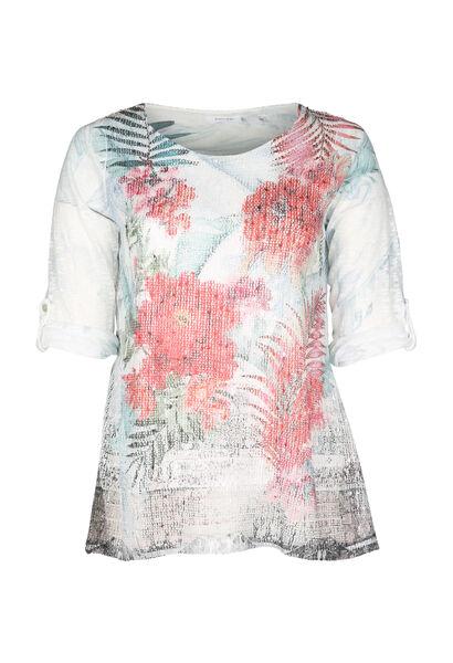 T-shirt met bloemenprint - Multicolor