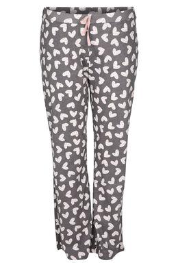 Pyjamabroek met hartjes, Grijs