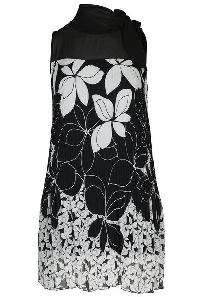 Jurk met bloemenprint - Zwart