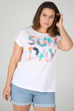 T-shirt 'Sun day', Wit