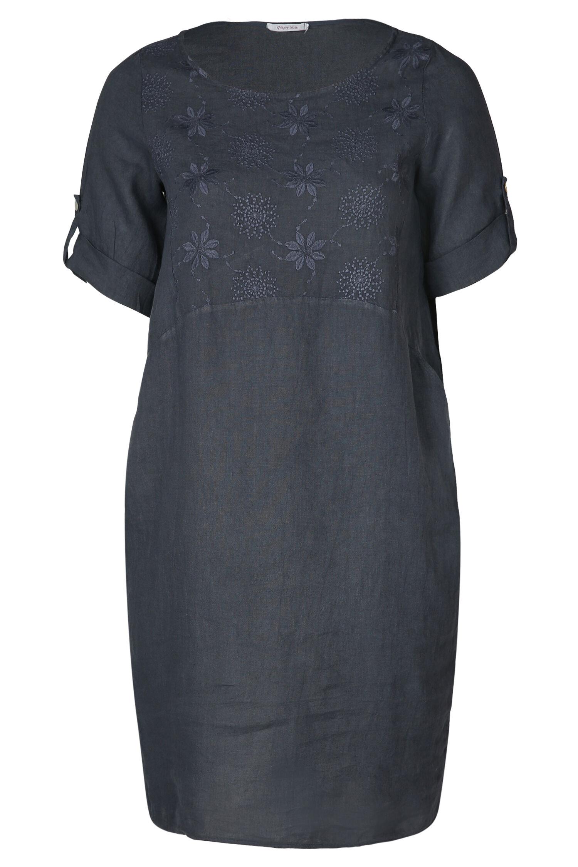 paprika linnen jurk