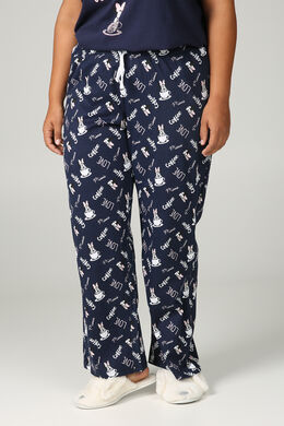 Pyjamabroek Minnie, Marineblauw