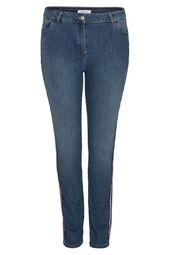 Slim Jeans met sportswear-stroken