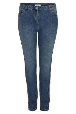 Slim Jeans met sportswear-stroken, Denim