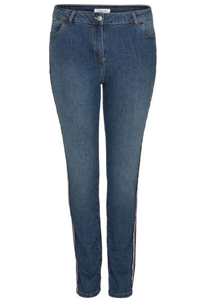 Slim Jeans met sportswear-stroken - Denim