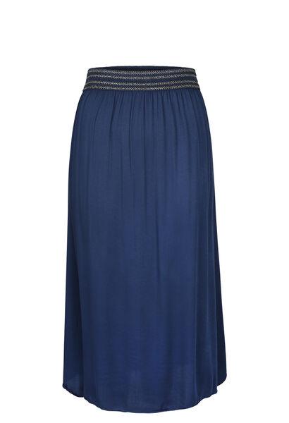 Lange rok met elastische tailleband in lurex - Indigo