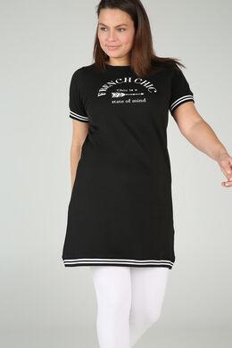 Jurk Sportswear « French Chic », Zwart
