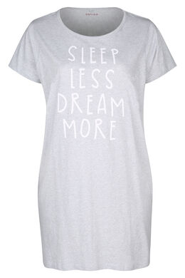 "Nachtkleed  ""Sleep less, dream more"", Gris Chine"