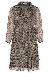 Lange jurk met bladprint