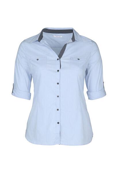 Effen blouse - Lichtblauw