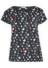 Katoenen T-shirt met vlinderprint, Marineblauw
