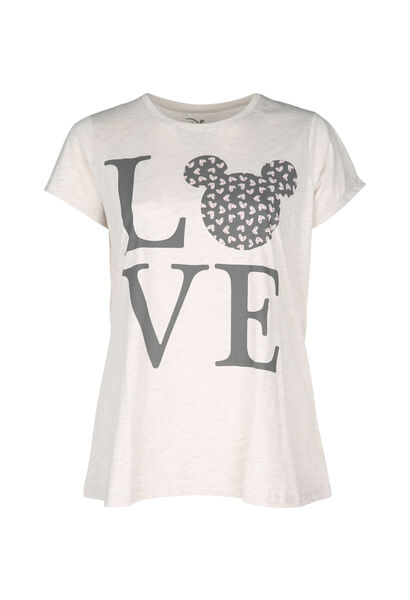 Nachtshirt Love - Beige