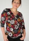 T-shirt met cirkels, Rood