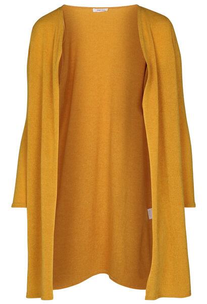 Lange cardigan in warm tricot - Oker