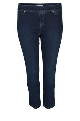 Jegging in jeans met 7/8-lengte, Denim