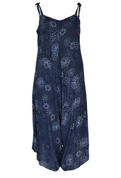 Jumpsuit met kleurrijke bloemenprint - Marineblauw
