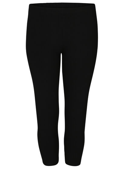 Kuitlange legging in biokatoen - Zwart