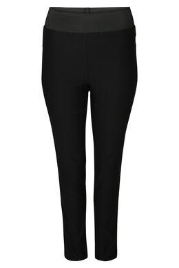 Geklede broek met elastische tailleband, Zwart