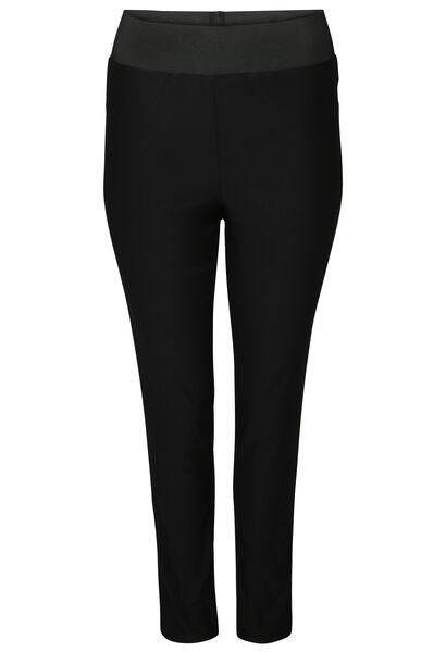 Geklede broek met elastische tailleband - Zwart