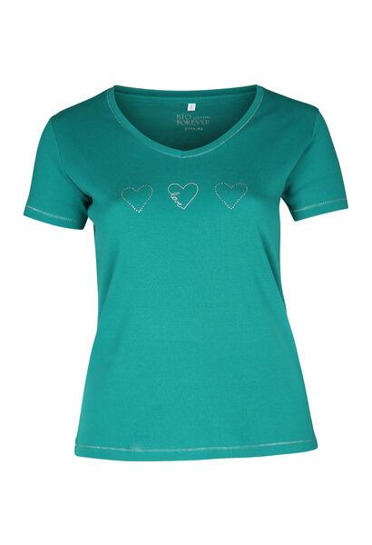 T-shirt biologisch katoen - Emerald groen