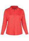 T-shirt in tricot met gitaarprint, Rood