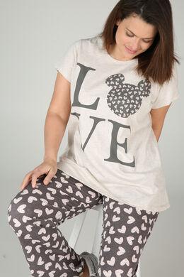 Nachtshirt Love, Beige