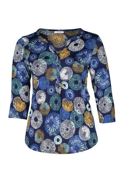 T-shirt met cirkels - Bic blauw