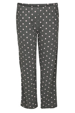 Pyjamabroek met stippen, Gris Chine